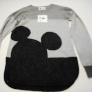 GAP KIDS DISNEY MICKEY MOUSE GRAY SWEATER LARGE
